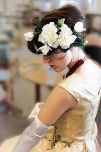 "The ""Lady Day"" Gardenia Fascinator"
