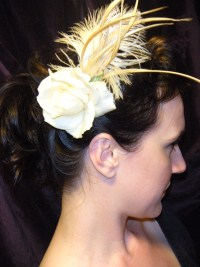 """Gypsy"" Rose Fascinator in Ivory"