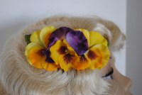 Happy Pansy Trio Side Comb