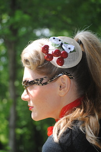 Cherries Jubilee Fascinator