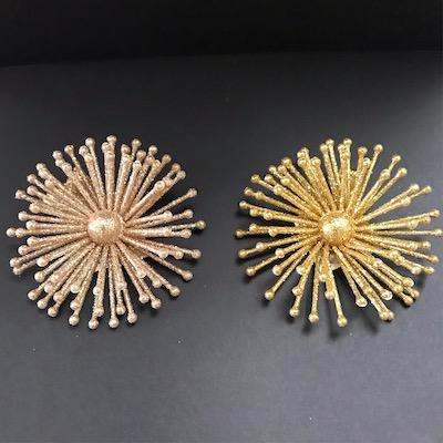Veronica's Mini Gold Glitter Starburst Clip