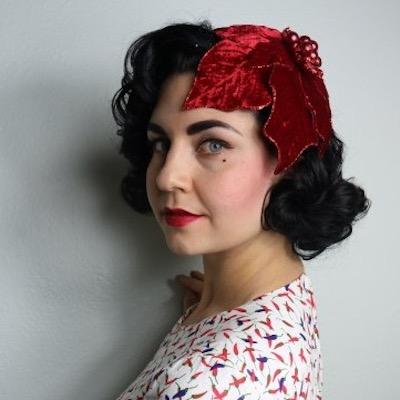 Lana Velvet Poinsettia Hat