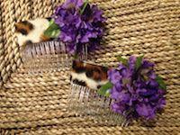 Leopard & Lilacs Side Comb