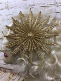 Veronica's Gold Glitter Starburst Clip