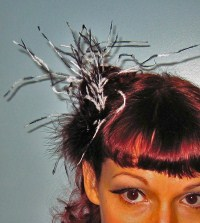 """Esther"" Feather Clip"