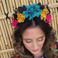 Sophia's Marigold Flower Crown