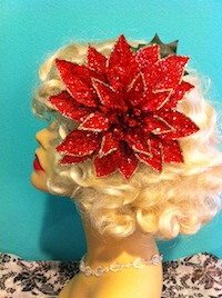 Glitter Dipped Poinsettias in 2 Colors