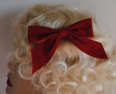 Red Velvet Hairbow