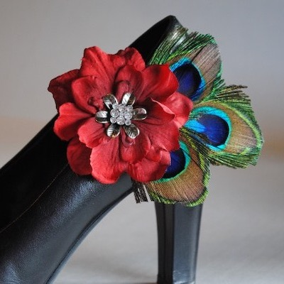 Gene's Peacock Shoe Clip Set