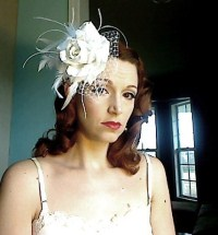 White Rose Wedding Belle Fascinator
